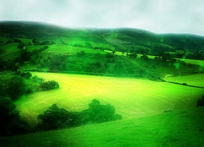 landscapes, nature, fields, hills, HDR photography - desktop wallpaper