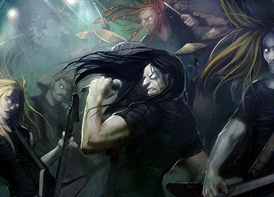metal, dethklok, Metalocalypse - random desktop wallpaper
