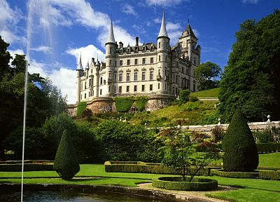 castles, garden, Dunrobin Castle - desktop wallpaper