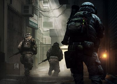 soldiers, video games, screenshots, Battlefield 3 - related desktop wallpaper