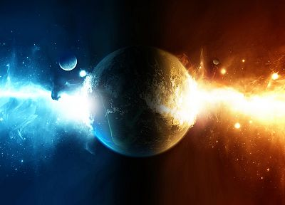 water, outer space, planets, fire, Help - related desktop wallpaper