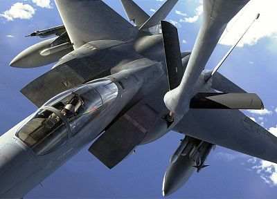 aircraft, military, vehicles, F-15 Eagle, fueling - desktop wallpaper