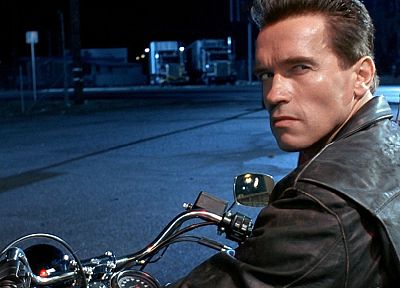 Terminator, movies, Arnold Schwarzenegger, vehicles, motorbikes - related desktop wallpaper