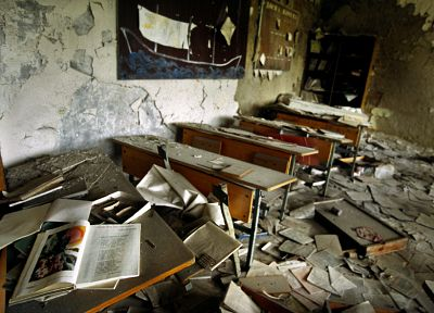ruins, Chernobyl, classroom, abandoned - related desktop wallpaper