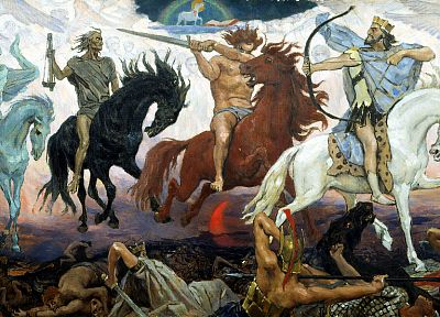 paintings, apocalypse, horses, Viktor Vasnetsov - desktop wallpaper