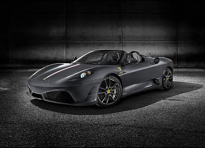 cars, gray, Ferrari, vehicles, Ferrari F430 Scuderia - desktop wallpaper