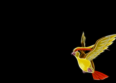 Pokemon, black background, Pidgeotto - desktop wallpaper
