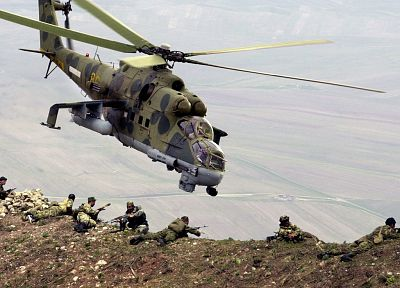 aircraft, helicopters, vehicles, Mi-24 - related desktop wallpaper