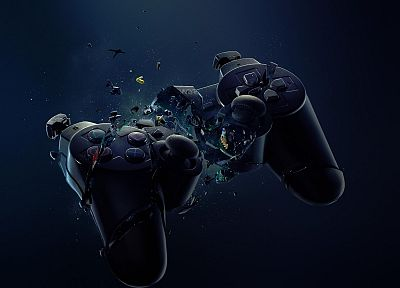 abstract, Sony, PlayStation, controller - related desktop wallpaper
