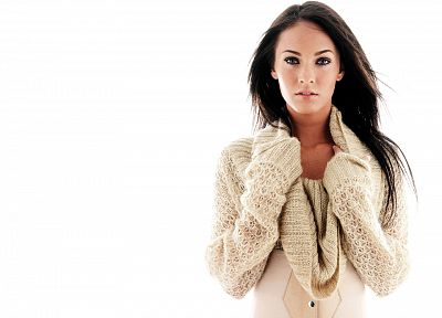 brunettes, women, Megan Fox, actress, celebrity, white background - related desktop wallpaper