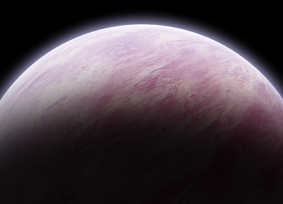 outer space, pink, planets - random desktop wallpaper