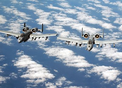 military, airplanes, Warthog, Thunderbolt, A-10 Thunderbolt II, A-10 - desktop wallpaper