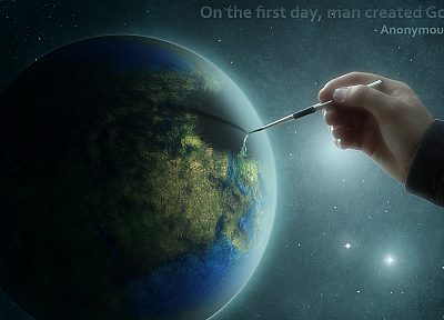 planets, hands, quotes - random desktop wallpaper