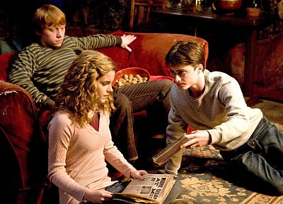Emma Watson, Harry Potter, Harry Potter and the Half Blood Prince, Daniel Radcliffe, Rupert Grint, Hermione Granger, Ron Weasley - related desktop wallpaper