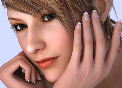 women, close-up, 3D view, CGI, 3D girls - related desktop wallpaper