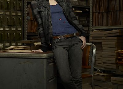 women, jeans, actress, redheads, celebrity, Warehouse 13, Allison Scagliotti - random desktop wallpaper