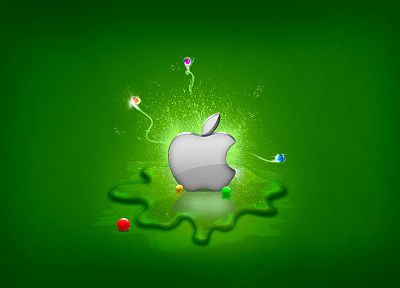 Apple Inc., technology, logos - desktop wallpaper