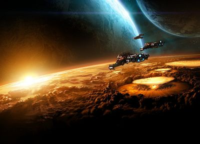 video games, outer space, planets - related desktop wallpaper
