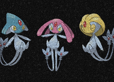 Pokemon, mosaic, Uxie, Azelf, Mesprit - related desktop wallpaper