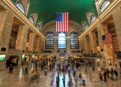 New York City, long exposure, Grand Central Station - random desktop wallpaper