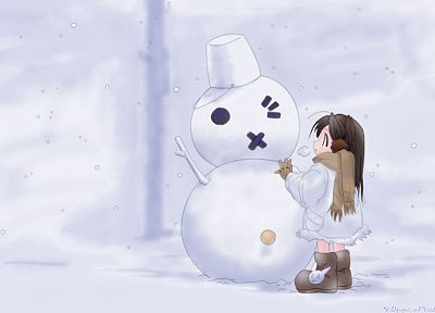 winter, snow, snowmen - random desktop wallpaper