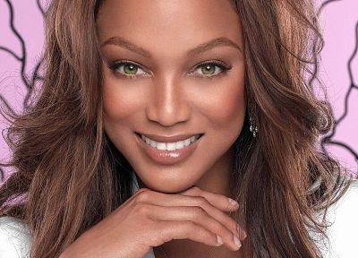 brunettes, women, models, celebrity, Tyra Banks, faces - desktop wallpaper