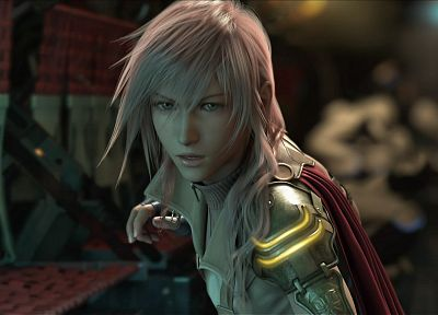 Final Fantasy, video games, jackets, armor, pink hair, Final Fantasy XIII, Claire Farron, fingerless gloves - random desktop wallpaper