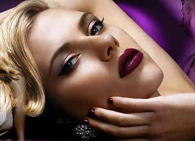 women, Scarlett Johansson, actress, models, celebrity, faces - random desktop wallpaper