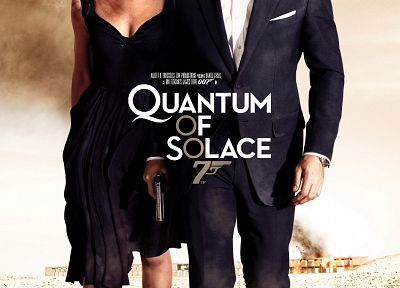 Quantum of Solace, James Bond, Olga Kurylenko, Daniel Craig, movie posters - related desktop wallpaper