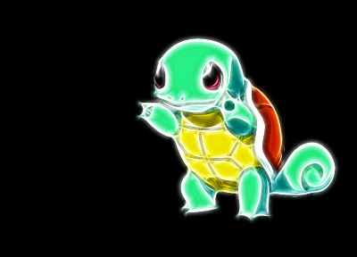 Pokemon, Squirtle, simple background, black background - related desktop wallpaper