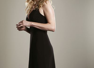 Elizabeth Mitchell, black dress - desktop wallpaper