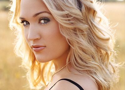 blondes, women, brown eyes, Carrie Underwood, faces - desktop wallpaper