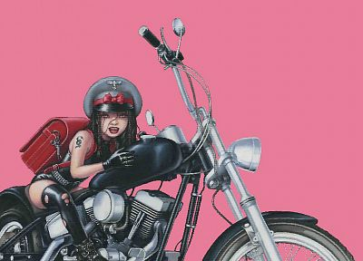 tattoos, biker, artwork, motorbikes - random desktop wallpaper