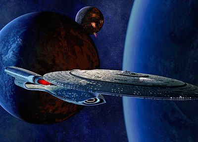 outer space, Star Trek, USS Enterprise - random desktop wallpaper