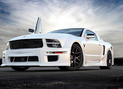 cars, Ford, vehicles, Ford Mustang, low-angle shot - desktop wallpaper