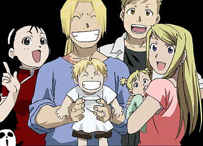 Fullmetal Alchemist, Elric Alphonse, Elric Edward, babies, Rockbell Winry, May Chang - newest desktop wallpaper