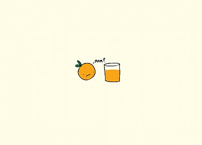minimalistic, comics, funny, oranges, orange juice - desktop wallpaper