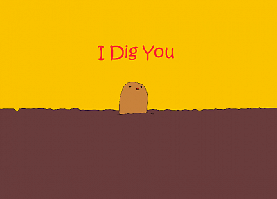 Pokemon, Diglett, simplistic - random desktop wallpaper