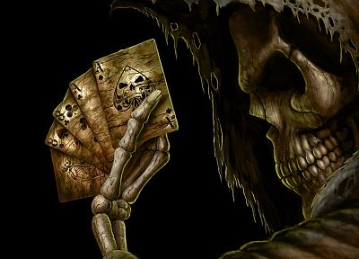 cards, skulls, death, skeletons - related desktop wallpaper