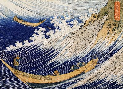 tsunami, The Great Wave off Kanagawa, Katsushika Hokusai - random desktop wallpaper