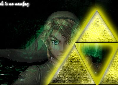 Link, triforce, The Legend of Zelda - duplicate desktop wallpaper