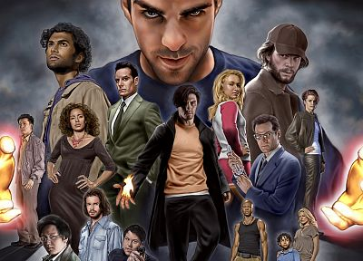 Heroes (TV Series), cartoonish, Peter Petrelli - random desktop wallpaper