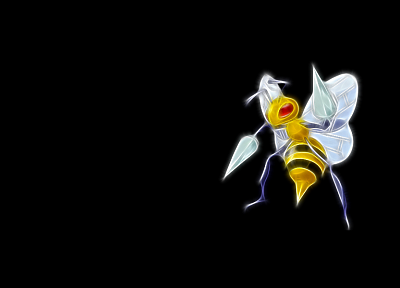 Pokemon, Beedrill, simple background, black background - desktop wallpaper
