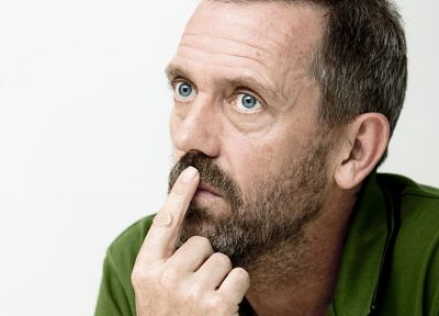 green, men, Hugh Laurie, faces - random desktop wallpaper