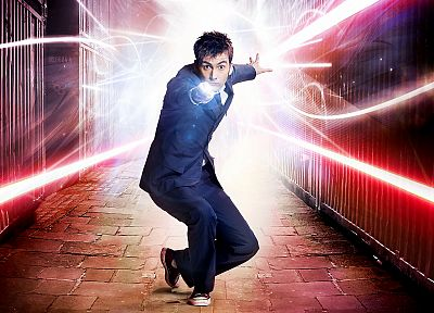 David Tennant, Doctor Who, Tenth Doctor, sonic screwdriver - random desktop wallpaper