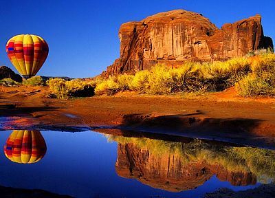 landscapes, Arizona, hot air balloons, rock formations - random desktop wallpaper