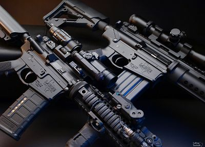 rifles, guns, weapons, sniper rifles, LaRue Tactical, Aimpoint comp m4 - related desktop wallpaper