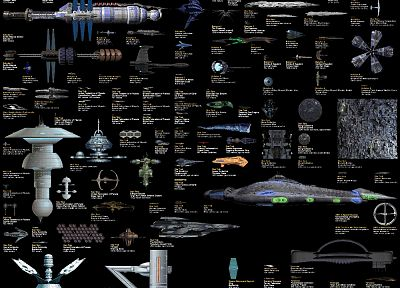 Star Wars, Star Trek, Babylon 5, Lexx - random desktop wallpaper