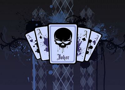 cards, artwork, Joker playing card - random desktop wallpaper