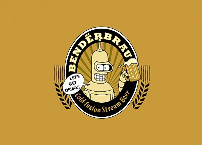 beers, Futurama, Bender - desktop wallpaper